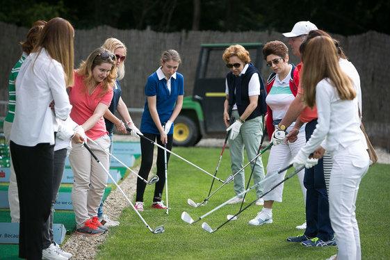 Ladys golf training