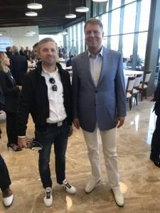 Călin Păcurar alături de Klaus Iohannis la inaugurarea Theodora Golf Club